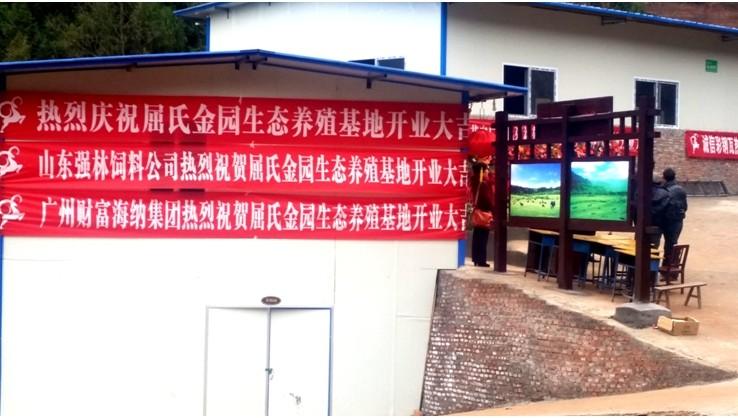 四川屈氏金园青山羊养殖基地